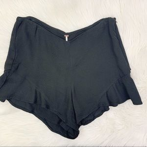 Free People Fitted High Waisted Flare Shorts